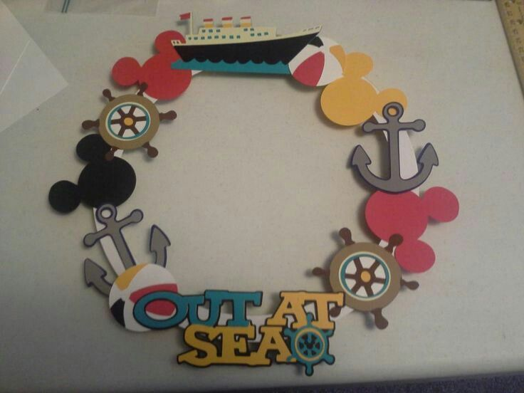 how to make disney cruise door magnets