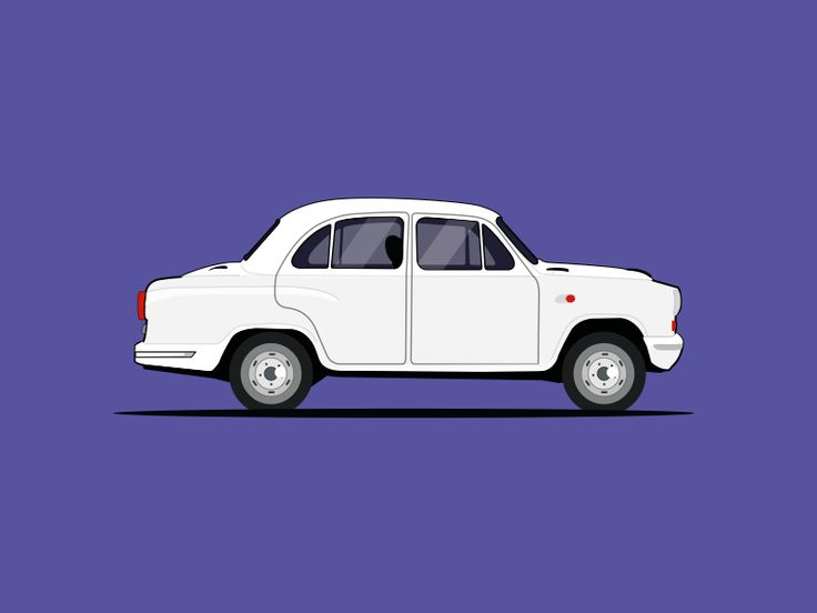 Ambassador Car Illustration by pramod kabadi