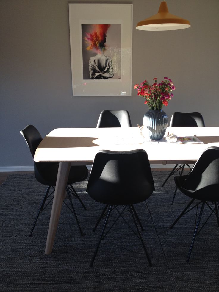 My lovely dining room table. Art print from society6.