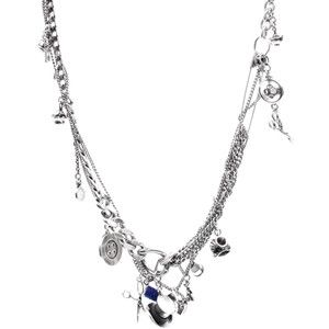 $160 Asos. Tom Binns For Disney Couture 'Alice In Wonderland' Madhatter Necklace    Charm necklace by Tom Binns for Disney Couture Mixed wonderland charms with embossed detailing Multiple chain design with high shine finish