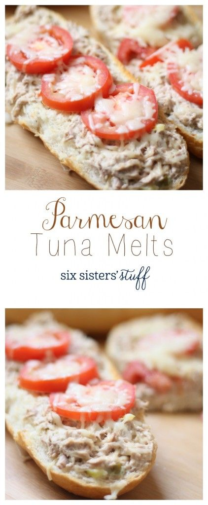 These Parmesan Tuna Melts are the perfect way to serve your family a nice warm dinner without all the time in the kitchen.