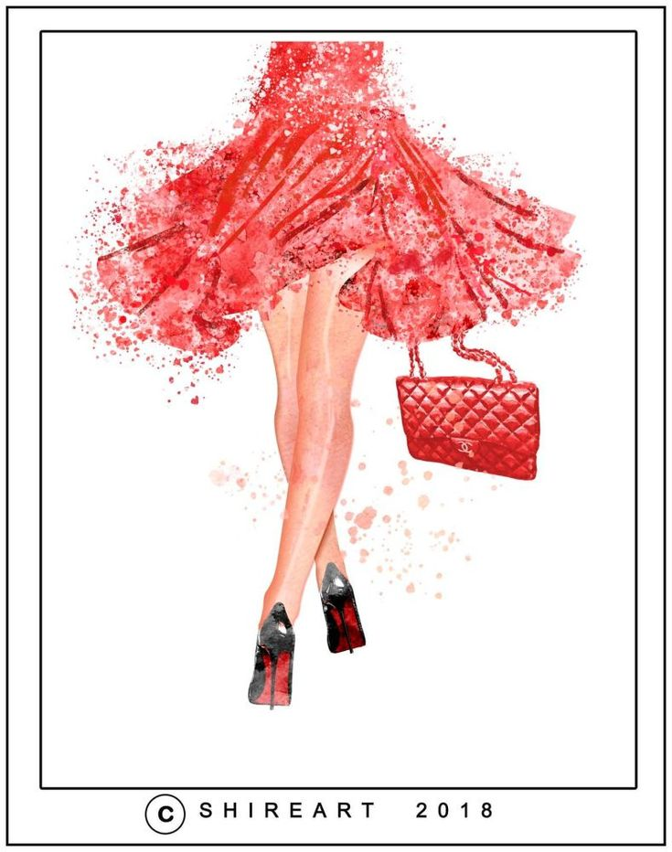 High Heels Fashion - Painting Watercolour
