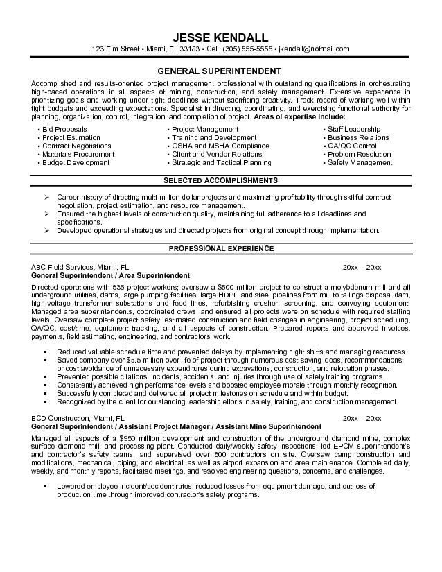 Resume Examples General Objective - Template