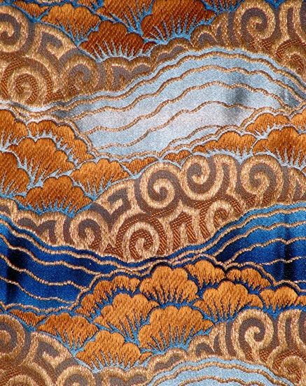 17th century handwoven silk-velvet textile with floral motif, Italy (likely provenance Genoa or Venice). Image courtesy of SF-based textile dealer Kathleen Taylor, Lotus Collection.