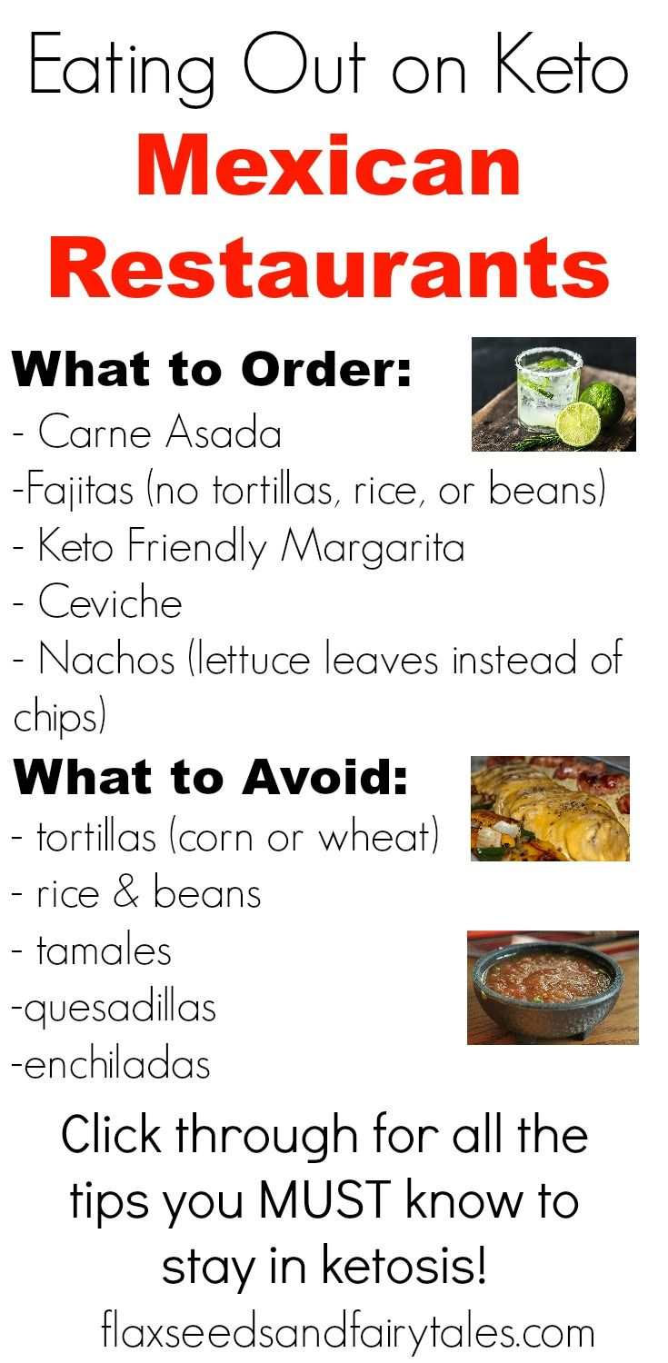 keto diet at mexican restaurant