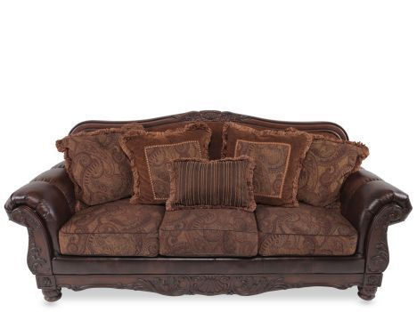 Ash 6310038 Ashley Durablend Fresco Antique Sofa