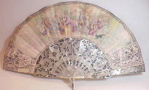 Antique French Silk Fan
