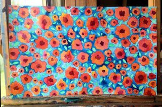 LISA'S ARTY LIFE....: HOW TO PAINT A PRETTY FLORAL ABSTRACTYou can do t...