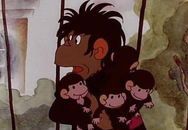 Только став мамой, понимаешь, что мультик про обезьянок ни капли не смешной...