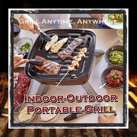 The Indoor Outdoor Portable Grill Is Going To Make Your Hearts And Taste Buds Hy Wait Did You See Word This Has Everything