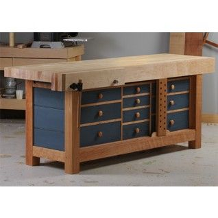 Inspired By The Workbench At Hancock Shaker Village, This Bench Has A Big,  Heavy Base With Drawers For All Of Your Hand Tools, And A Beefy Hard Maple  Top.
