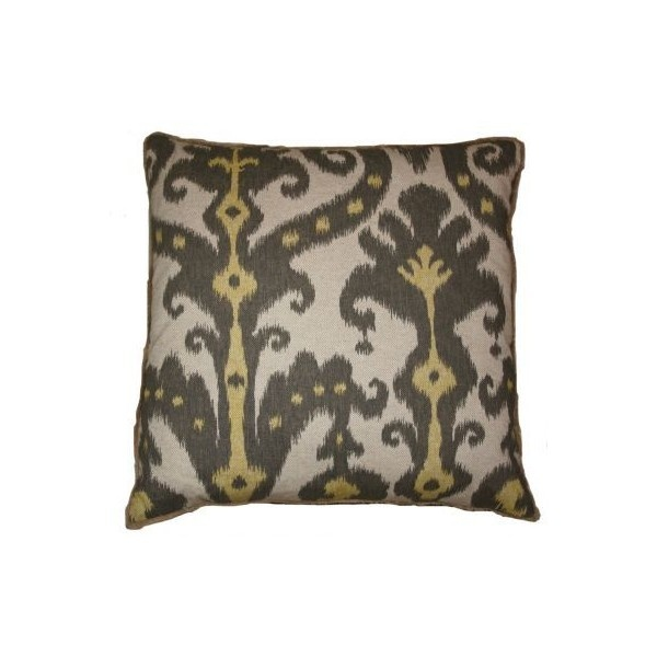 Throw Pillows Malum : Marrakesh Pillow Moroccan Throw Pillows Square Linen Accent Pillows Gray Yellow Blue Colors ...