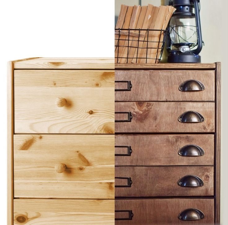 If you are wondering how to turn your RAST dresser into a handsome apothecary cabinet, I have just the hack for you. I think you can just score horizontal lines across the drawer fronts with a saw to create a faux apothecary cabinet style but I wanted more it realistic, with more texture.