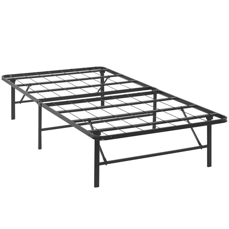 horizon twin stainless steel bed frame brown
