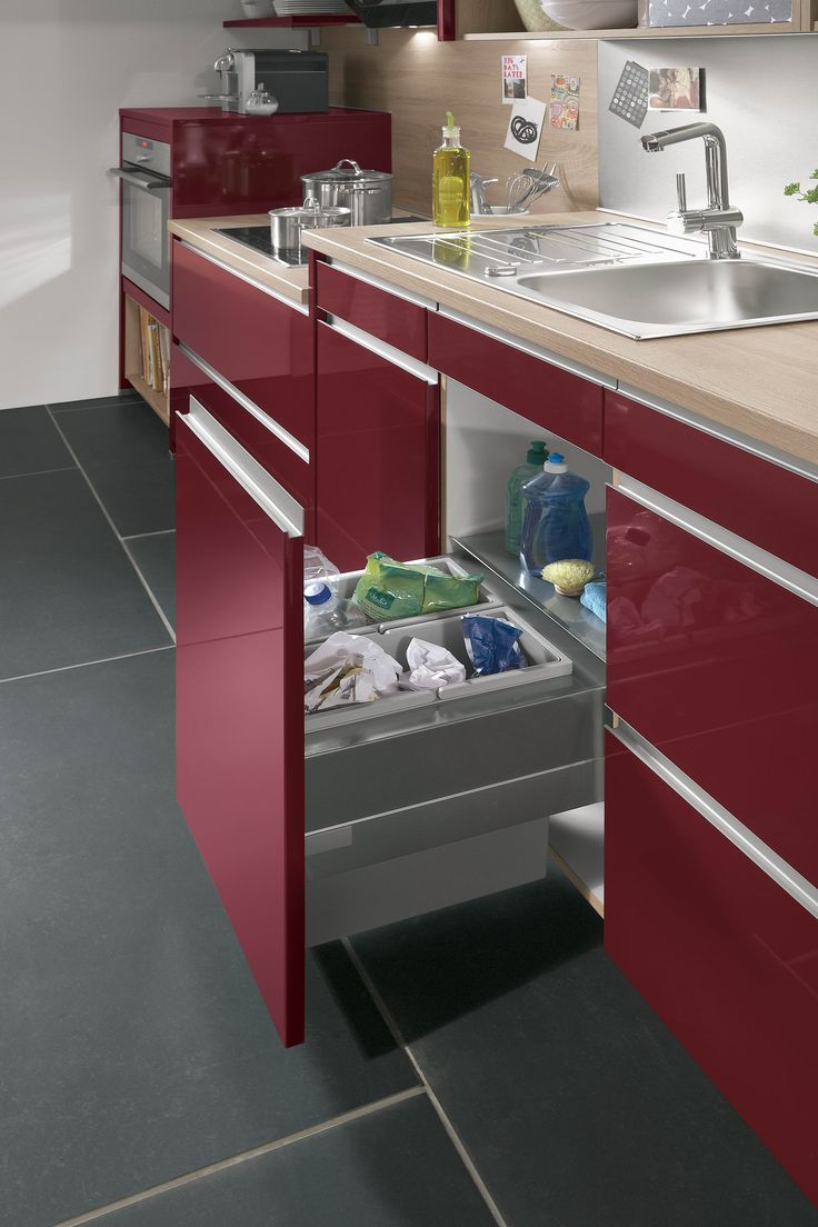SMC Kitchens Pontyclun are the exclusive suppliers of Nobilia Kitchens. Come and see our showroom in Coed-Cae Lane. For more info click here. http://bit.ly/SMCKitchensHome Perfect waste separation: the sink unit is equipped with a Cargo frame and has cushioned self-closing fittings.