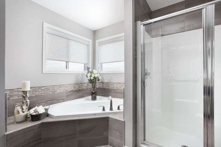 Owner's ensuite in Shane Homes Tofino II Showhome in Redstone in northeast Calgary #bathroom #ensuite #bath #YYC
