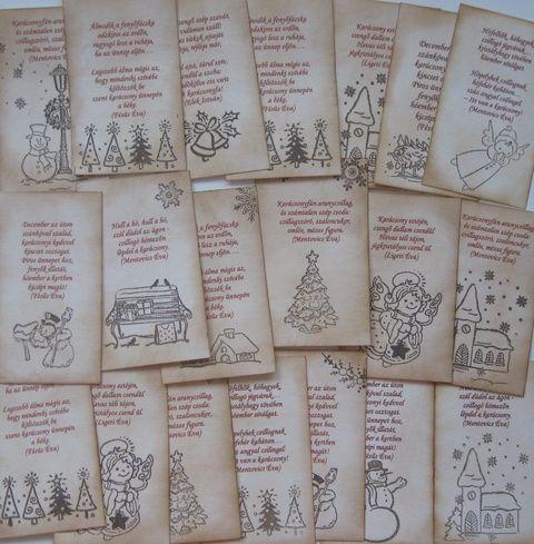 Idézetes - bélyegzőmintás kártyák