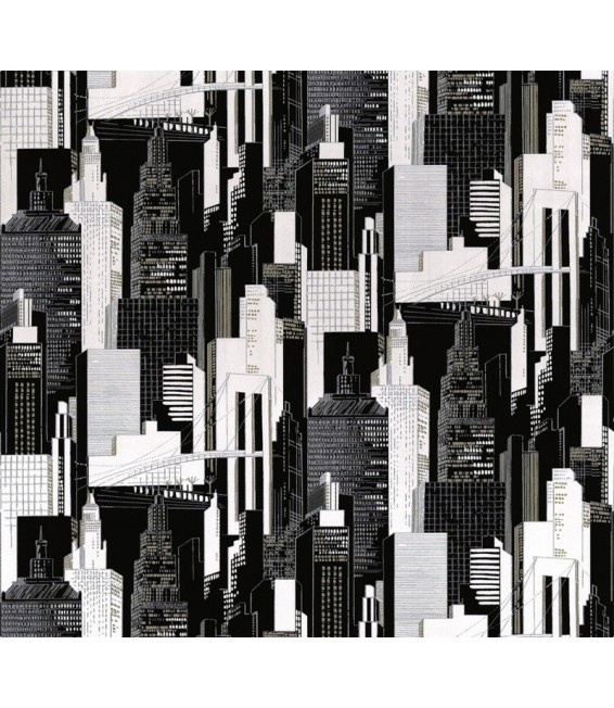 A.S. Creation 6838-16 Belle Vue, Black & White New York Skyline