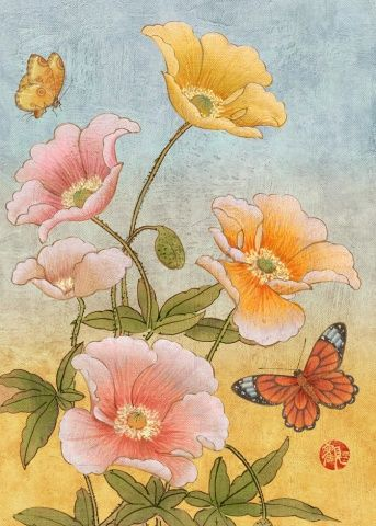 Title: Chinese Poppies Artist: Adam Guan