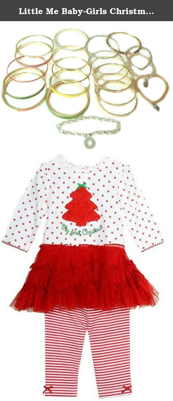 "Little Me Baby-Girls Christmas Tutu Dress Legging Set 0-3 months. With details such as ruffled trim tree with ""My First Christmas Applique"" and bow accents this holiday-themed two-piece set is a delight."