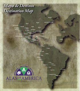 Airline memorabilia: Alas de América (Aeroméxico, Mexicana, Aeroperú) (1996)