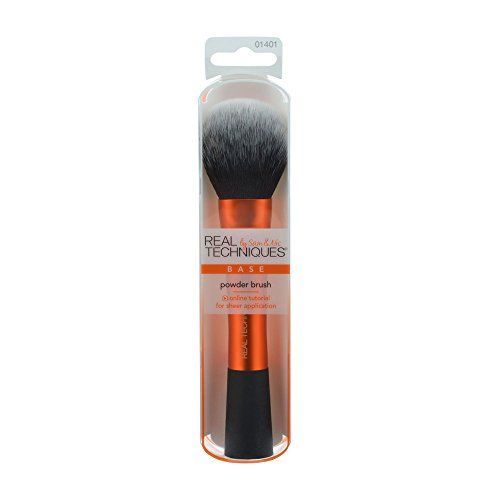 Real Techniques Cruelty Free Powder Brush With Ultra Plush Custom Cut Synthetic Bristles and Extended Aluminum Ferrules to Build Coverage ** Read more reviews of the product by visiting the link on the image.-It is an affiliate link to Amazon.