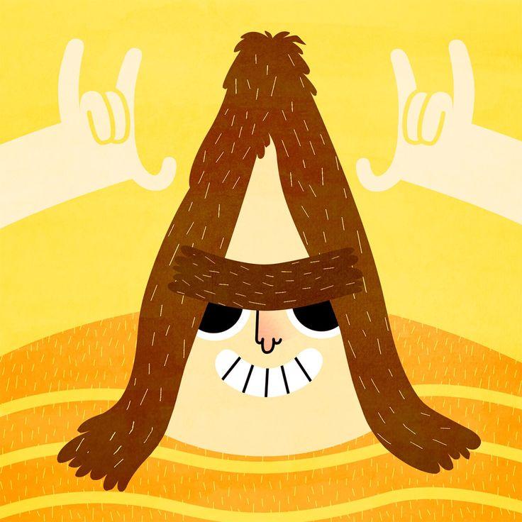 En lo más fffres.co: Pelotipo, una tipografía por los pelos: Uniendo barbas, bigotes, cejas y peinados imposibles, Dani Blanc crea un…