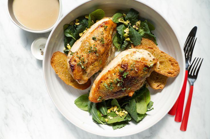 40 Clove Garlic Chicken Recipe For Two | aidamollenkamp.com | #pairswellwithfood