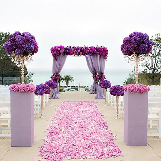 WEDDING GAWKER - How to incorporate Pantone's Color of ''2014 VIBRANT ORCHID'' into your wedding day. A carefully curate collection of ideas. Pic: The Youngrens