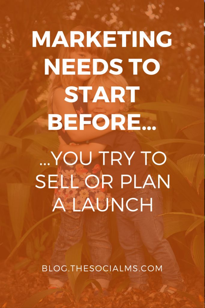 If you are going to start something new – the minute you decide that you are going to do it, is the right time to start marketing