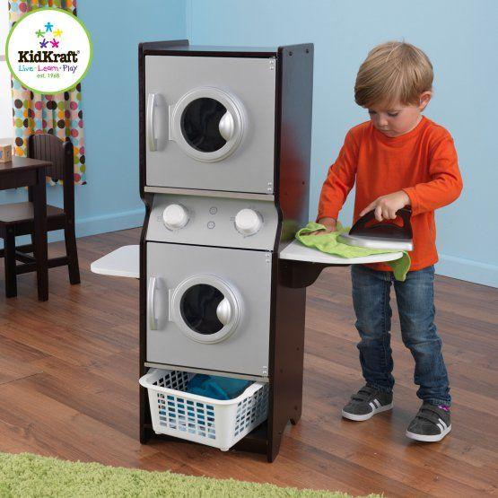KidKraft Laundry Playset - Espresso - 63283