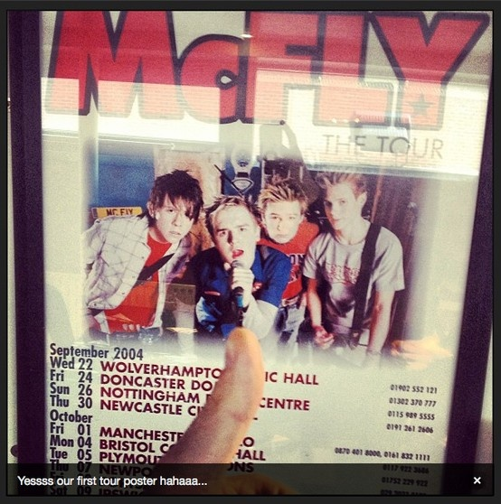 twitter via DannyMcFly  1st ever Mcfly tour poster.