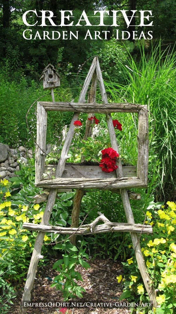 12 Creative Garden Art Ideas - it doesn't take a lot of money to turn your garden into something wonderful!