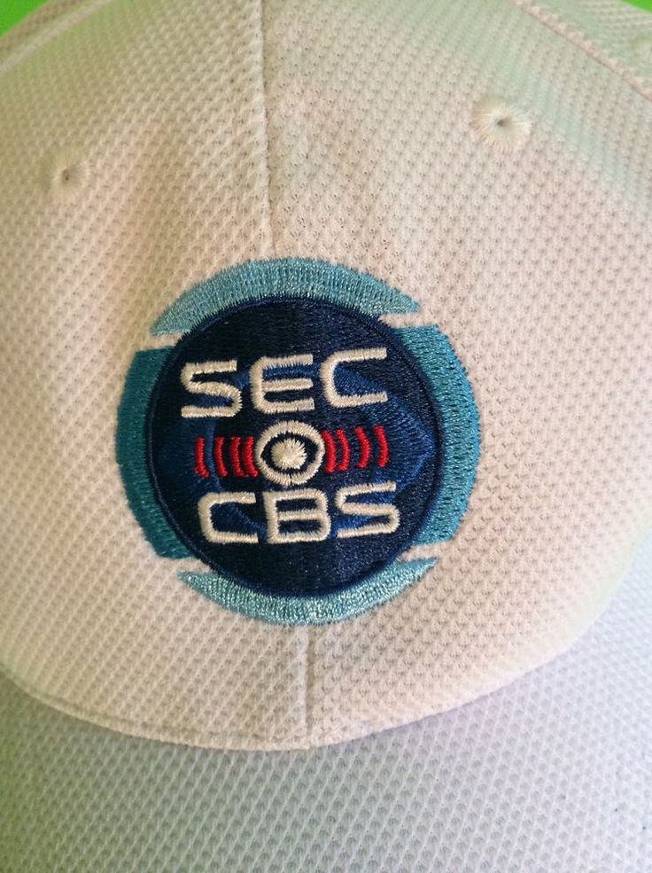 Sec Cbs Sports Adjustable Hat Embroidered Logo And Blue