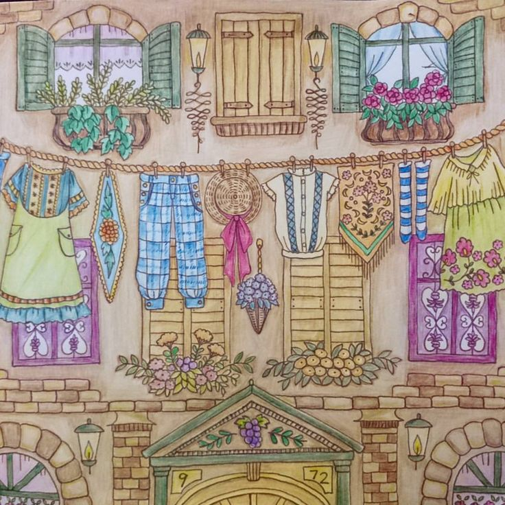 Romantic Country Coloring Book,