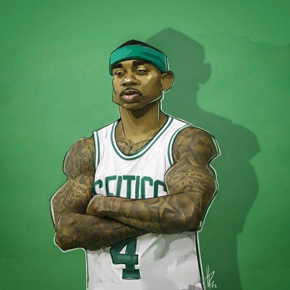 Isaiah Thomas Celtics General Illustration - Hooped Up