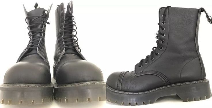 Vegetarian Shoes 10-Eye Boots Like Doc martenS Cruelty Free Vegan+ Barely Used!!  |