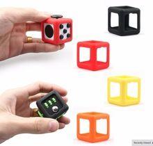 Fidget Cube Speelgoed Een vinyl Bureau Speelgoed Beschermende Cove Anti Prikkelbaarheid Speelgoed Magic Grappige De Beste Kerst Druk Verlichten Speelgoed(China (Mainland))