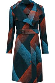 Roland MouretRiderhood printed wool-crepe coat