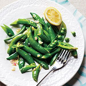 Made this tonight with snap peas from my garden.  Steamed them instead of boiled them.  Wonderful!!