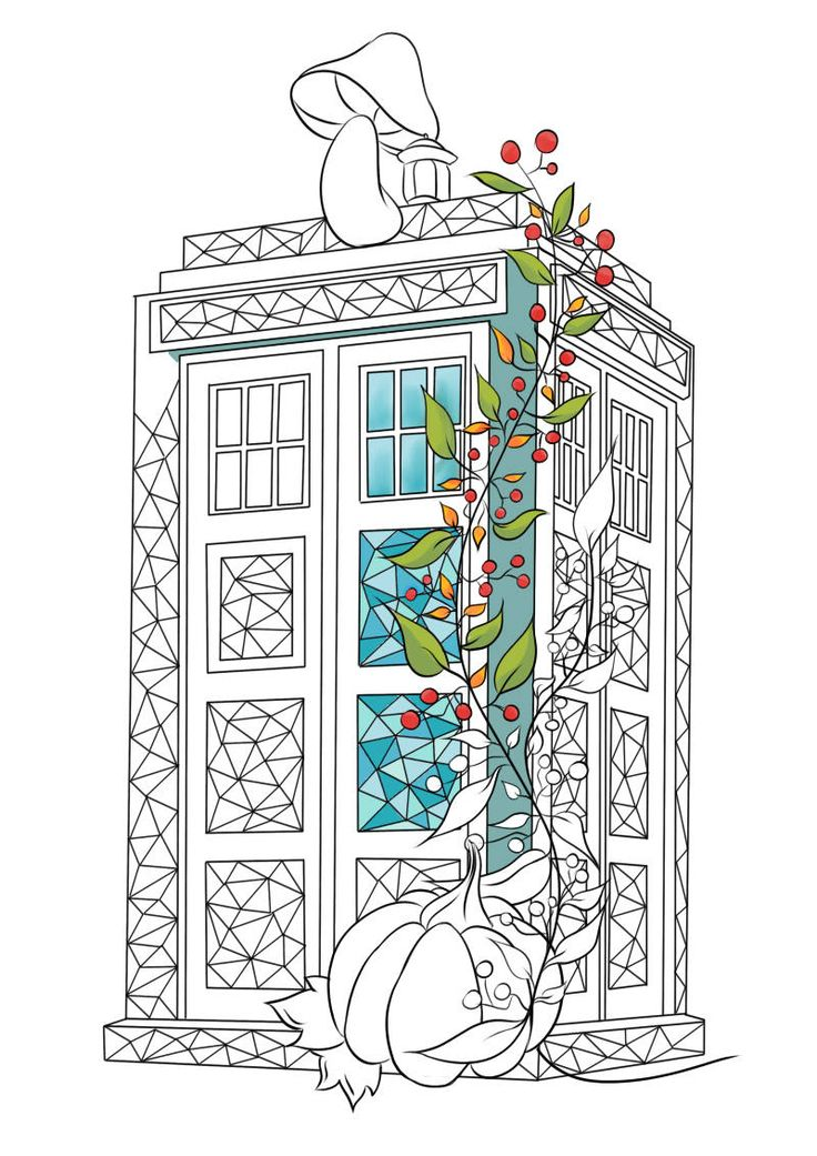 adult coloring page tardis coloring page fall coloring for adult polygonal geometric - Tardis Coloring Page