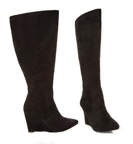 Choice of 37 boots for women with wide calves! This is the Wide Calf Wedge that is only $27!
