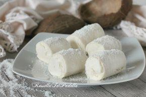 Rotolini al cocco, ricetta veloce senza cottura. non serve cuocere niente, ma anche perchè non servono frullatori, fruste o sbattitori. Golosissimi.
