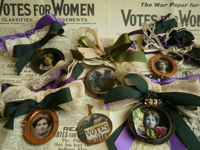 Suffragette Jewellery by Amanda Scrivener, via Flickr