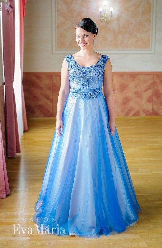 Večerné šaty s princeznovskou sukňou - PRINCEZNOVSKÉ ŠATY