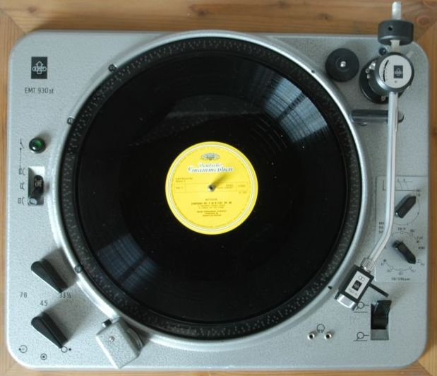 EMT 930 record player with an engine so strong that it will break your arm if you try to stop it while working.