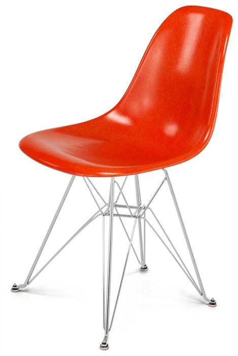 Modernica Fiberglass Shell Chair Eiffel - Orange