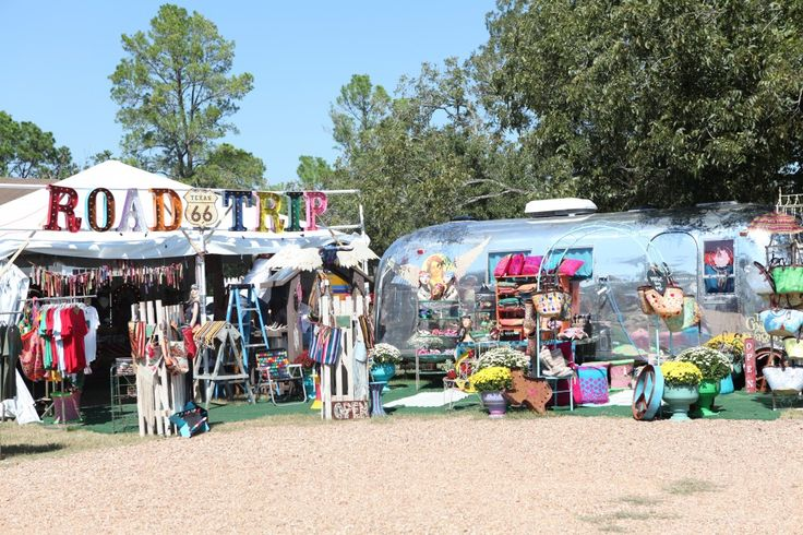 Getting ready Round Top Antique Fair- airstream, color, vintage! - One of our favorite stops, @The Gypsy Wagon !!!