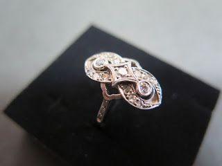 Vintage Japanese Jewelry / 色石 / 昭和ジュエリー / ハンドメイドジュエリー / 肥前屋質店: P.m ダイヤモンド リング #10 VINTAGE