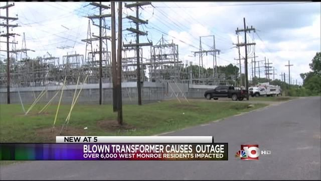 The blown transformer cause more than 6,000 #poweroutages across #Ouachita Parish Tuesday morning. Entergy is reporting that 397 #outages still remain and they are working to get these outages restored. #PowerOut? #iSocket3G will send text messages to your cell phone about power shutdowns or when power is restored.
